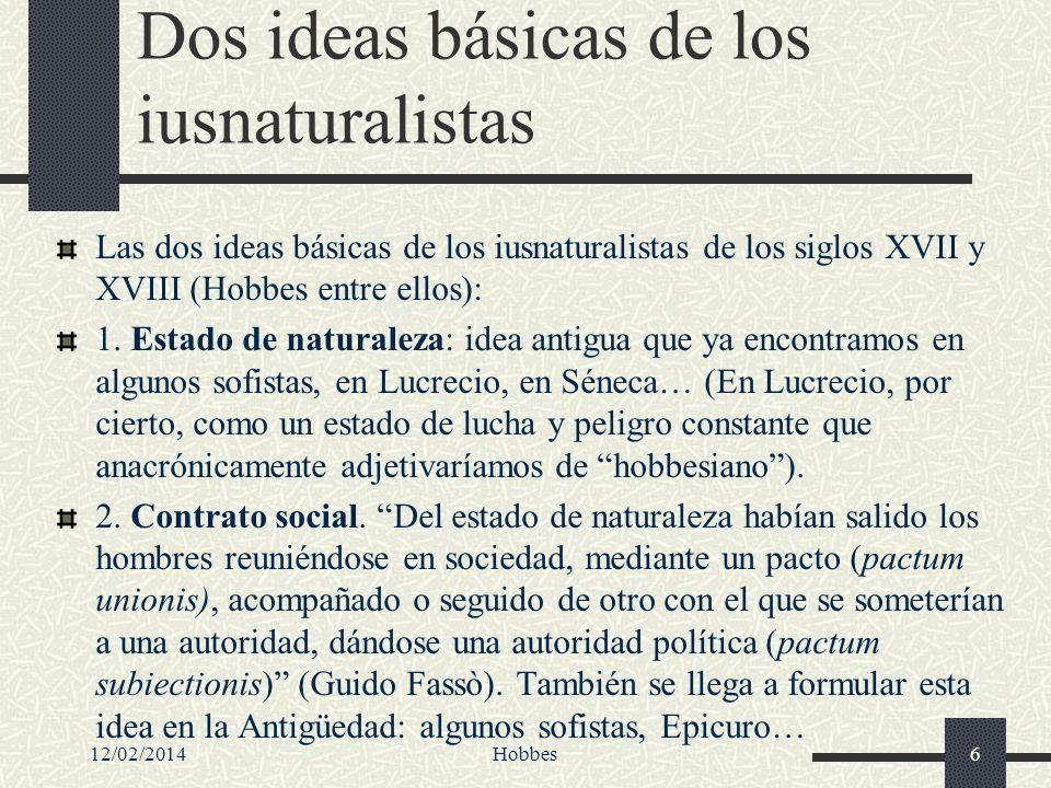 Dos ideas básicas de los iusnaturalistas