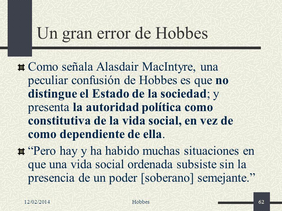 Un gran error de Hobbes