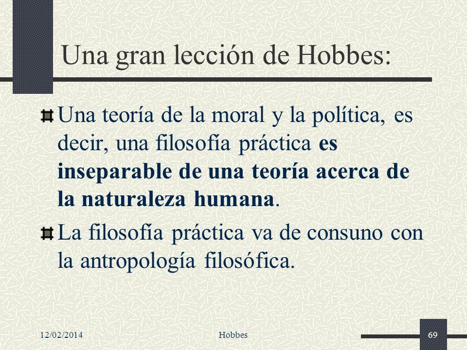 Una gran lección de Hobbes: