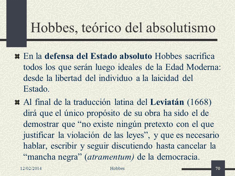 Hobbes, teórico del absolutismo