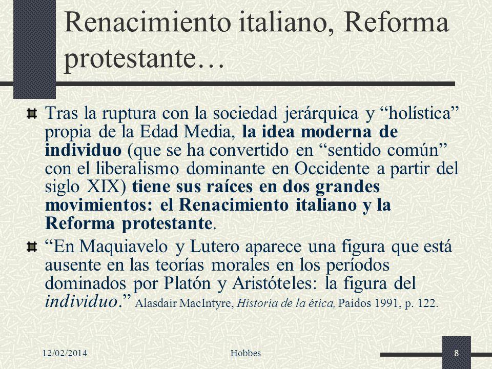 Renacimiento italiano, Reforma protestante…