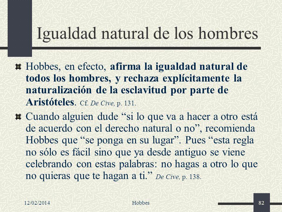 Igualdad natural de los hombres