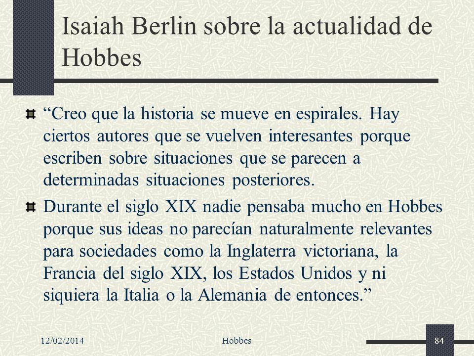 Isaiah Berlin sobre la actualidad de Hobbes