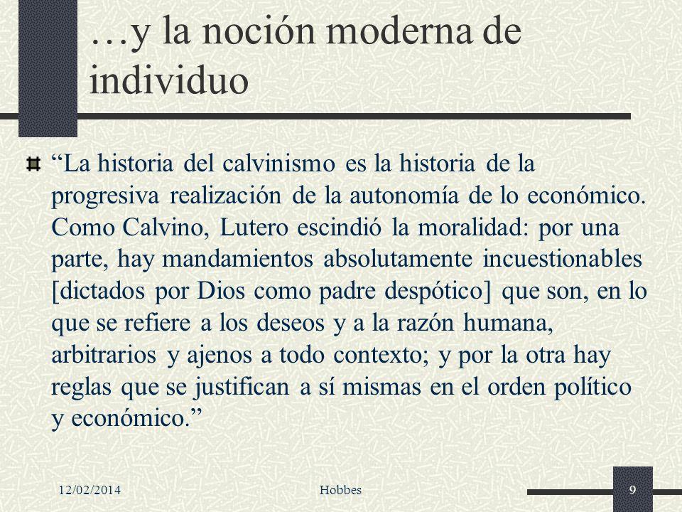 …y la noción moderna de individuo