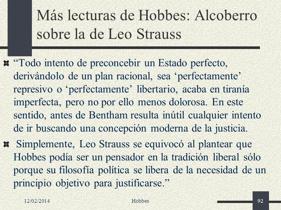 Más lecturas de Hobbes: Alcoberro sobre la de Leo Strauss