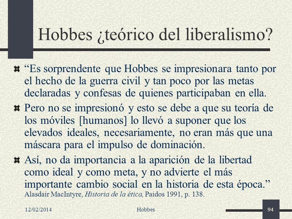 Hobbes ¿teórico del liberalismo