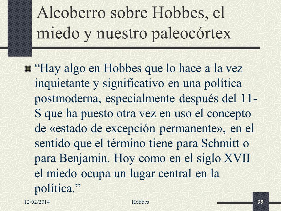 Alcoberro sobre Hobbes, el miedo y nuestro paleocórtex