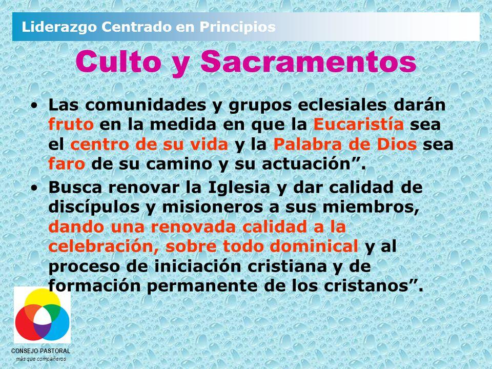 Culto y Sacramentos
