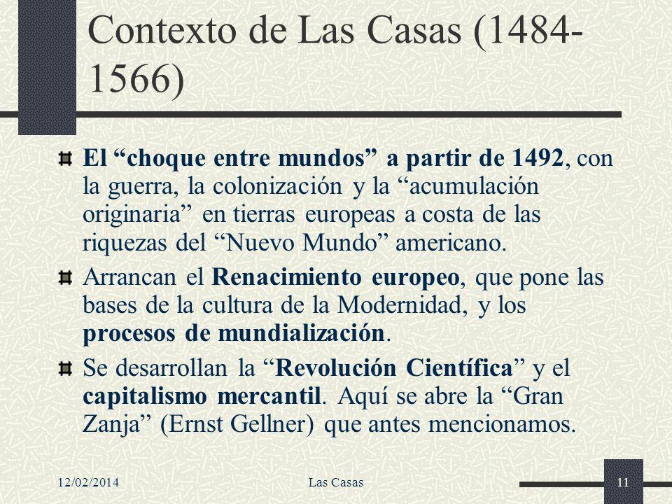 Contexto de Las Casas (1484-1566)