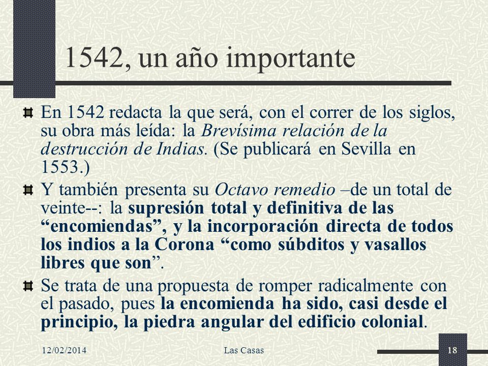 1542, un año importante