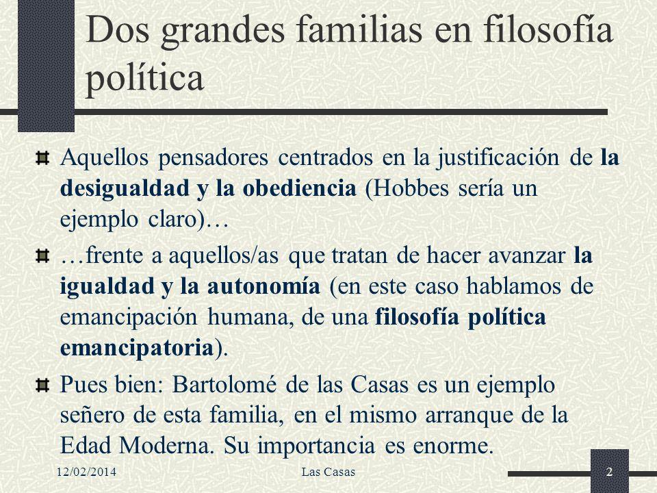 Dos grandes familias en filosofía política