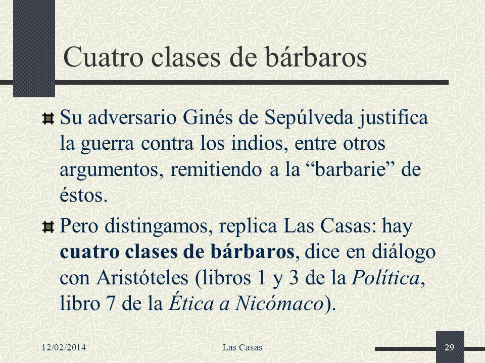 Cuatro clases de bárbaros