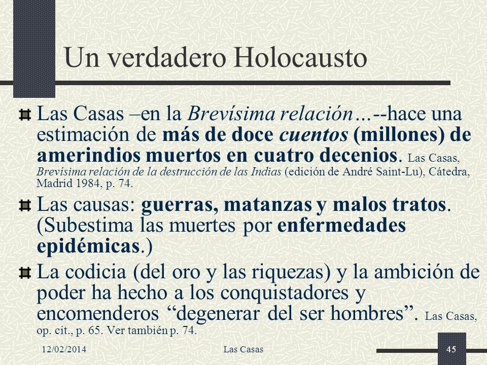 Un verdadero Holocausto