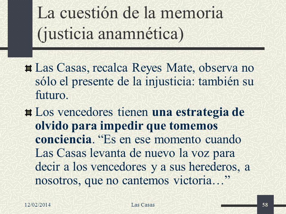 La cuestión de la memoria (justicia anamnética)