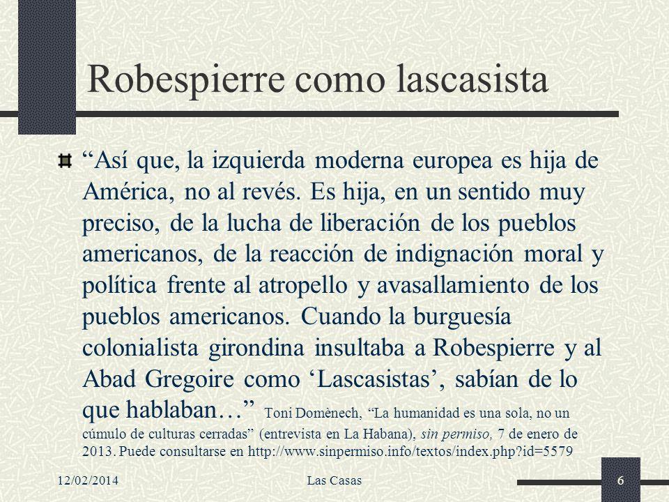 Robespierre como lascasista