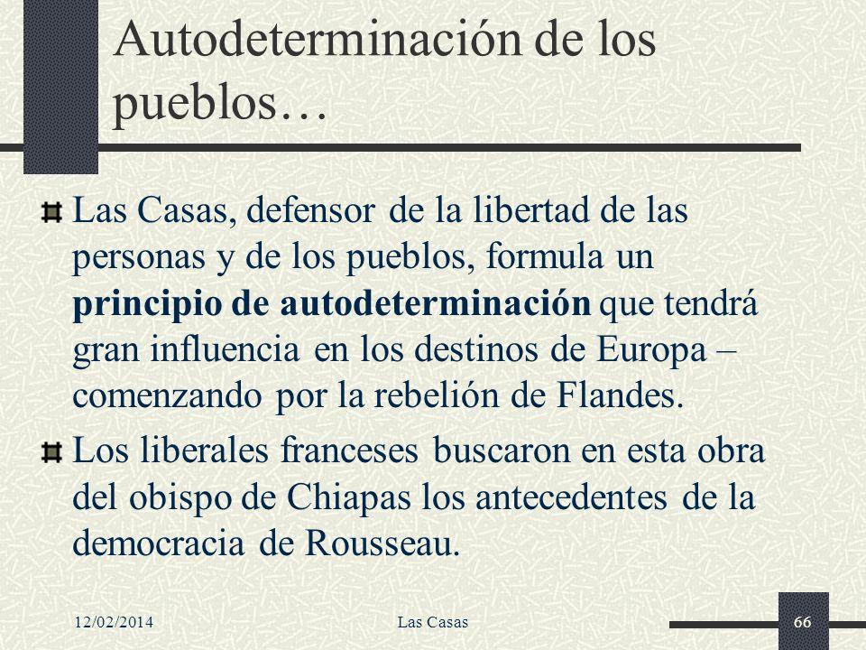 Autodeterminación de los pueblos…