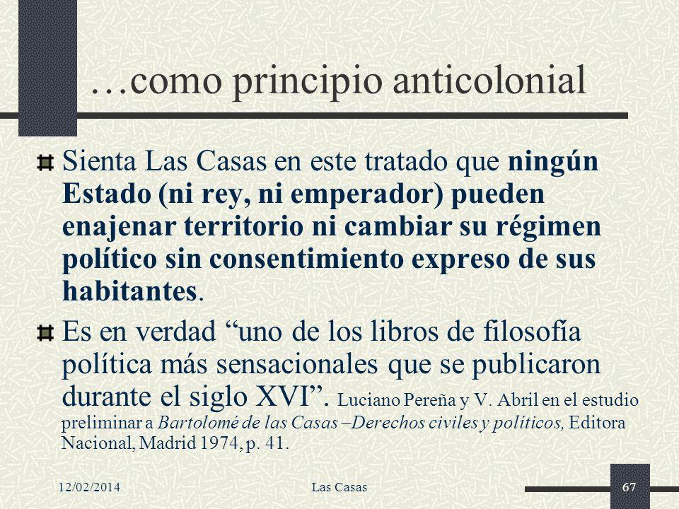 …como principio anticolonial