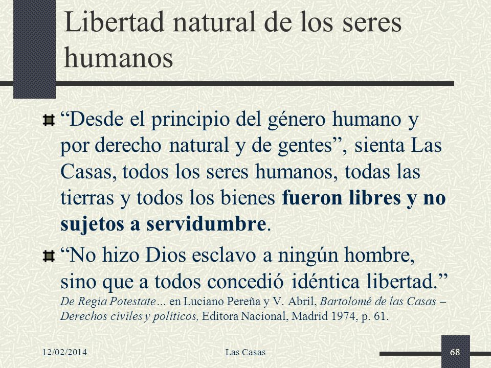 Libertad natural de los seres humanos