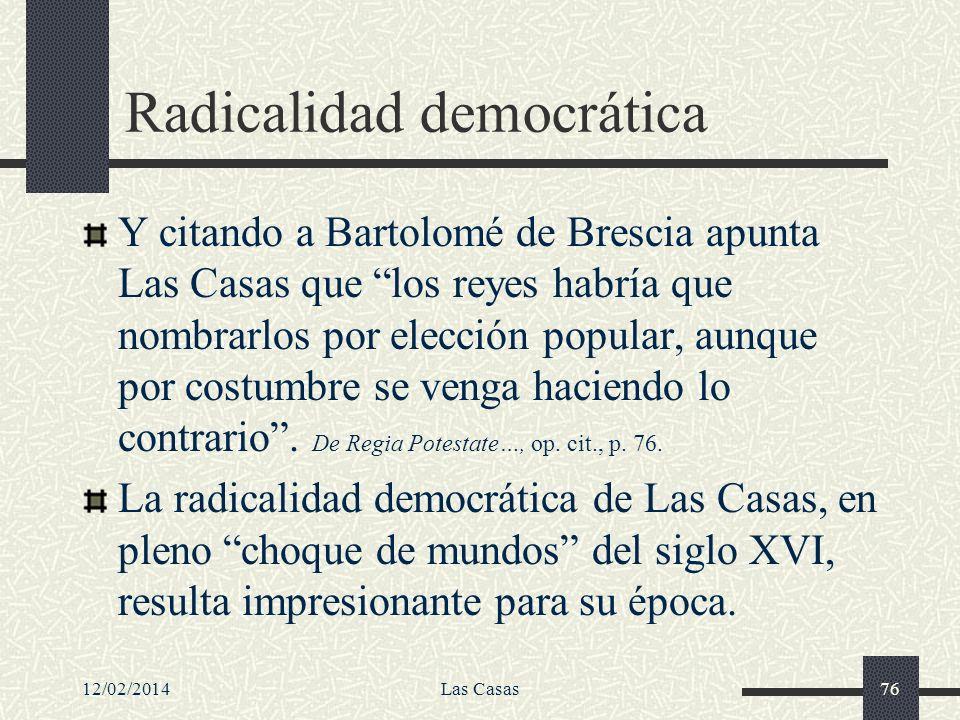 Radicalidad democrática