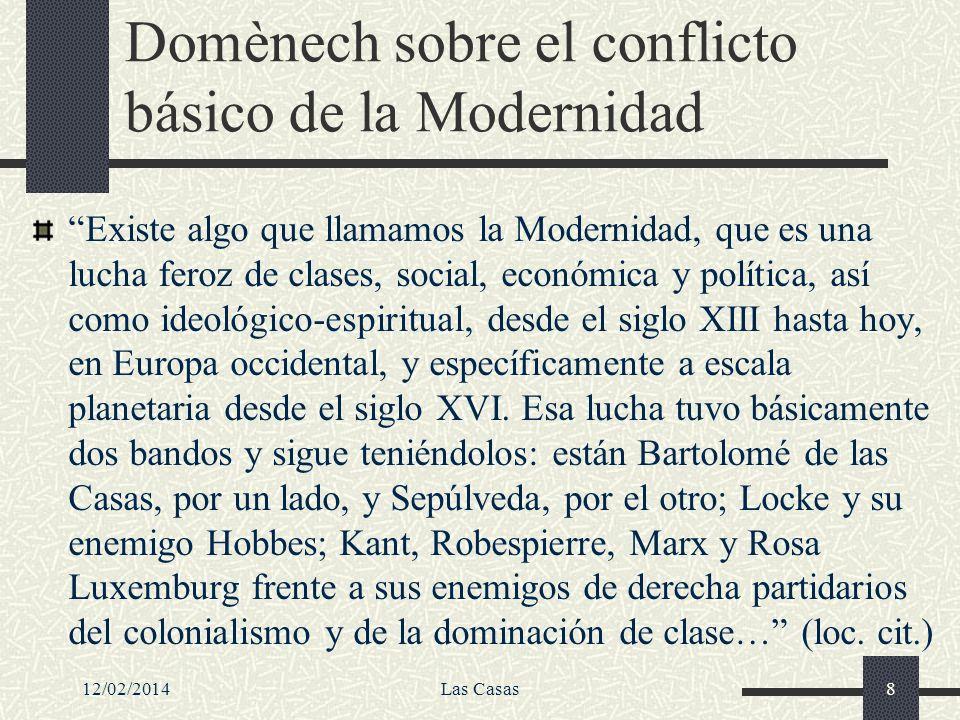 Domènech sobre el conflicto básico de la Modernidad