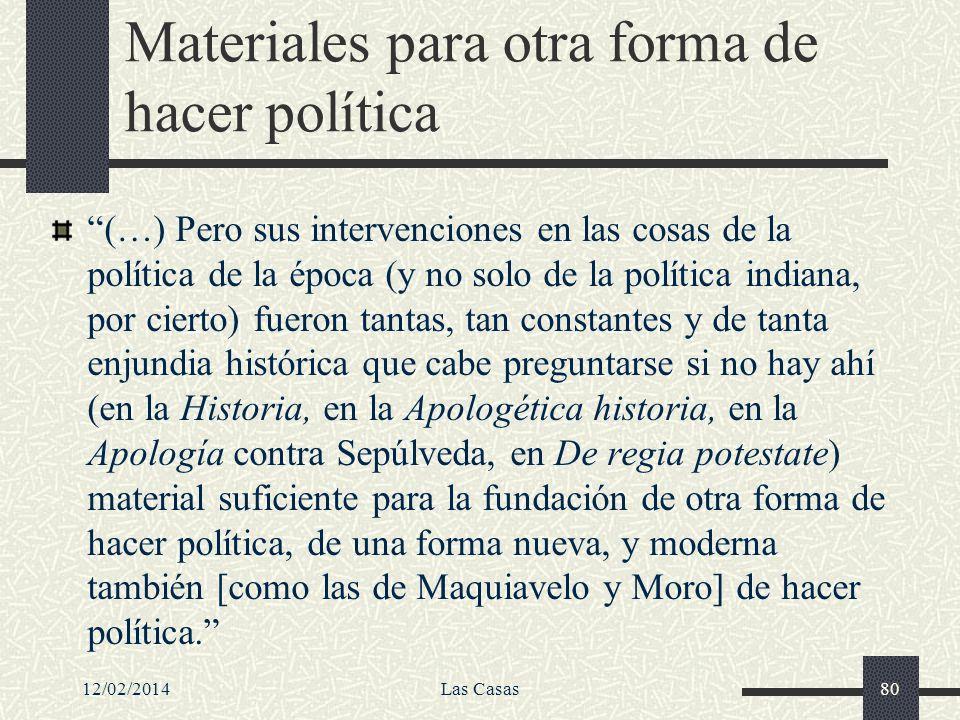 Materiales para otra forma de hacer política