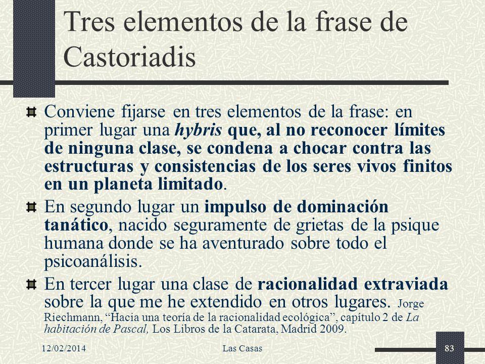 Tres elementos de la frase de Castoriadis