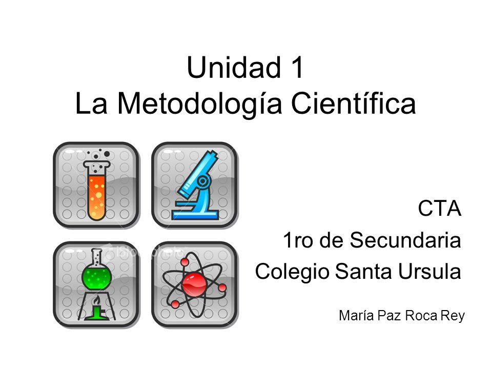 Unidad 1 La Metodología Científica