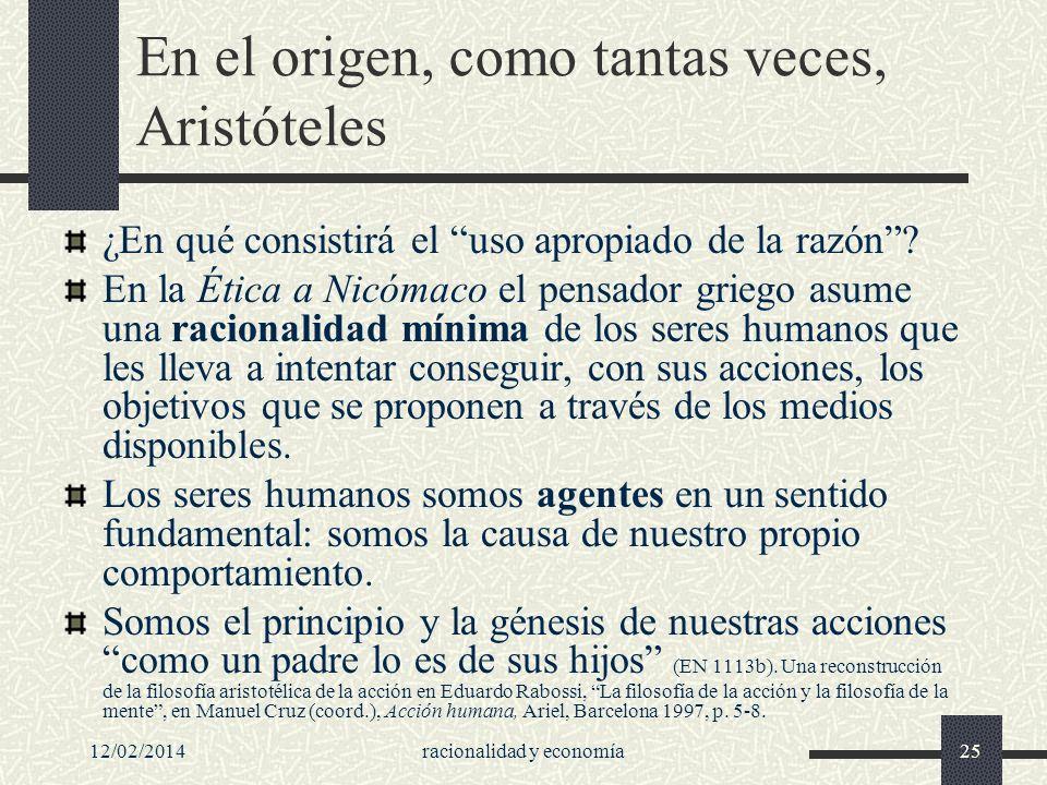 En el origen, como tantas veces, Aristóteles