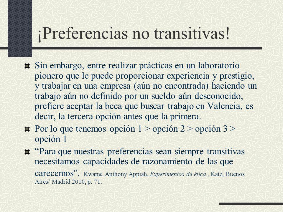 ¡Preferencias no transitivas!