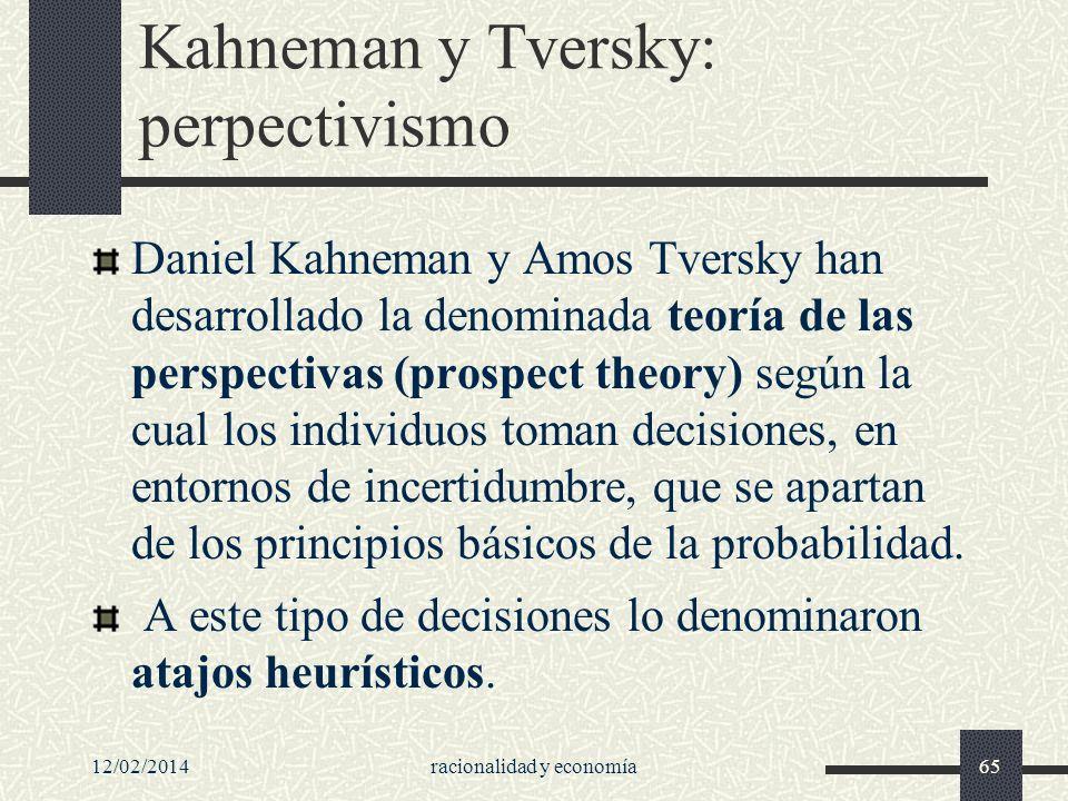 Kahneman y Tversky: perpectivismo