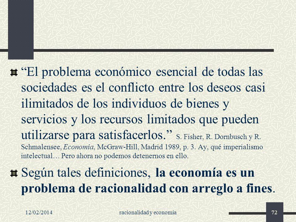 racionalidad y economía