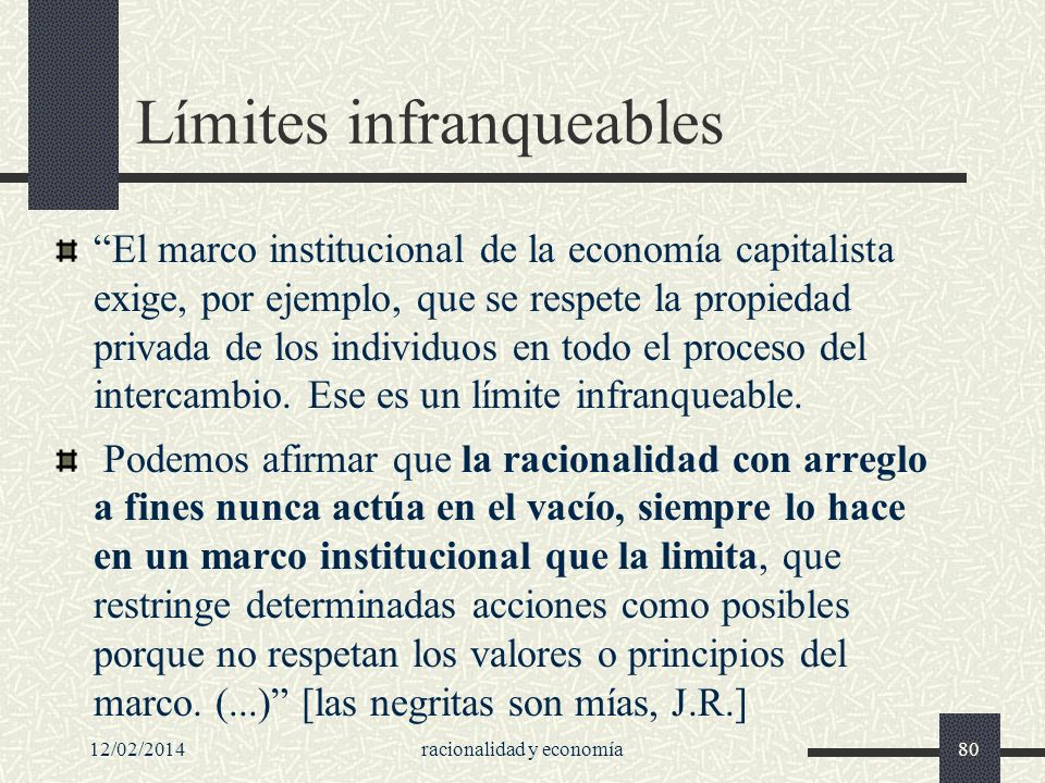Límites infranqueables