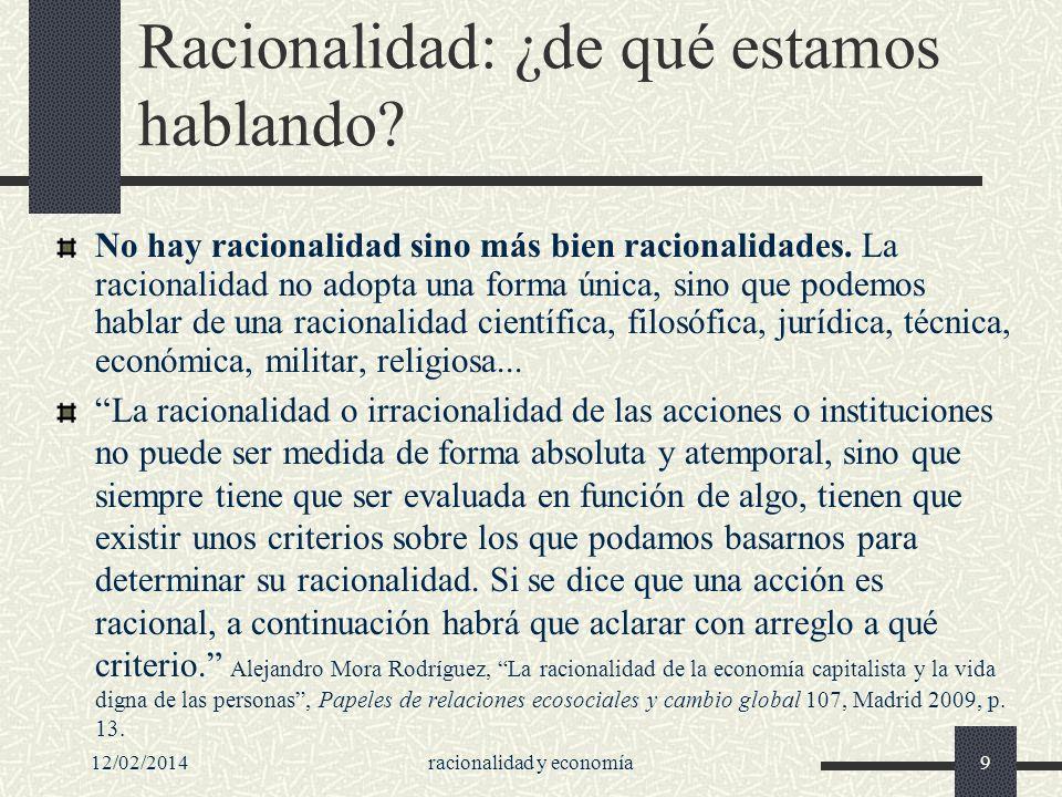 Racionalidad: ¿de qué estamos hablando