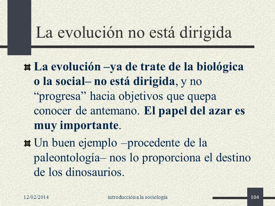 La evolución no está dirigida