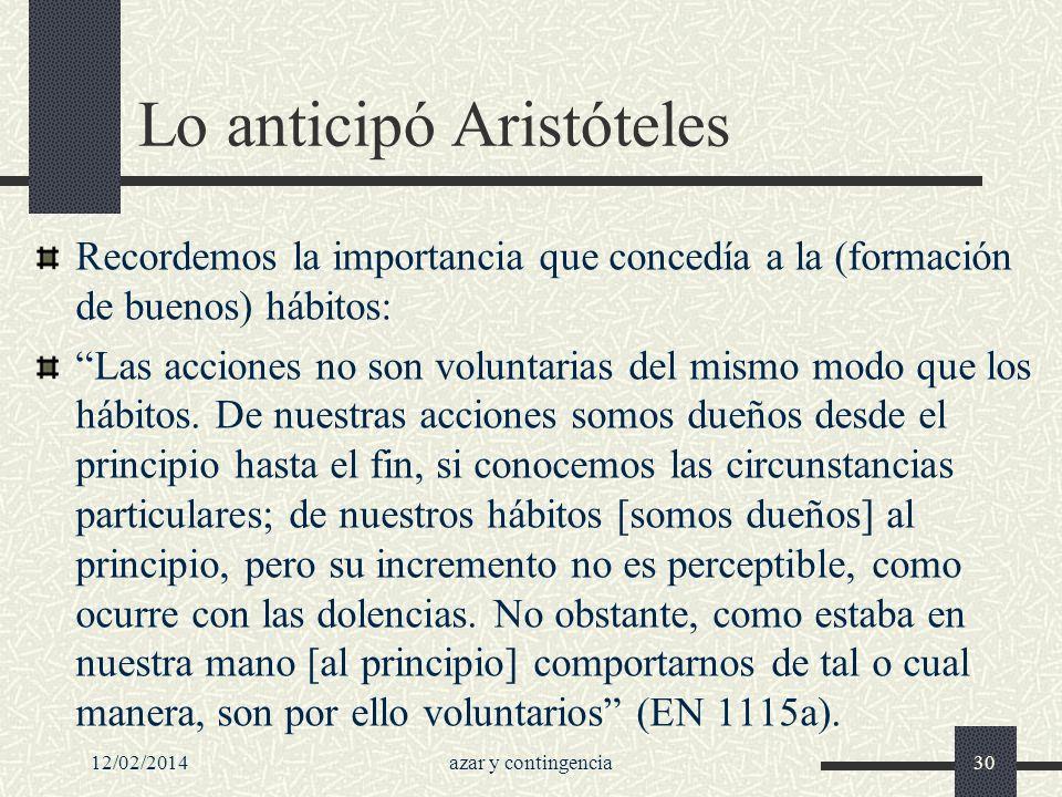Lo anticipó Aristóteles