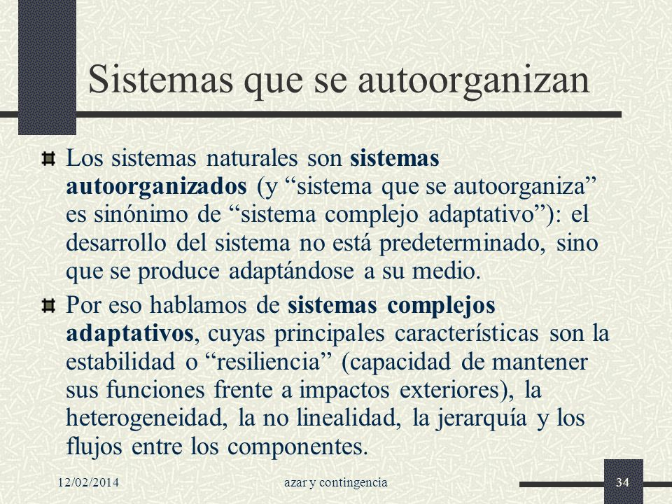 Sistemas que se autoorganizan