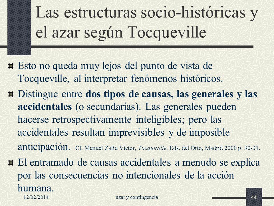 Las estructuras socio-históricas y el azar según Tocqueville