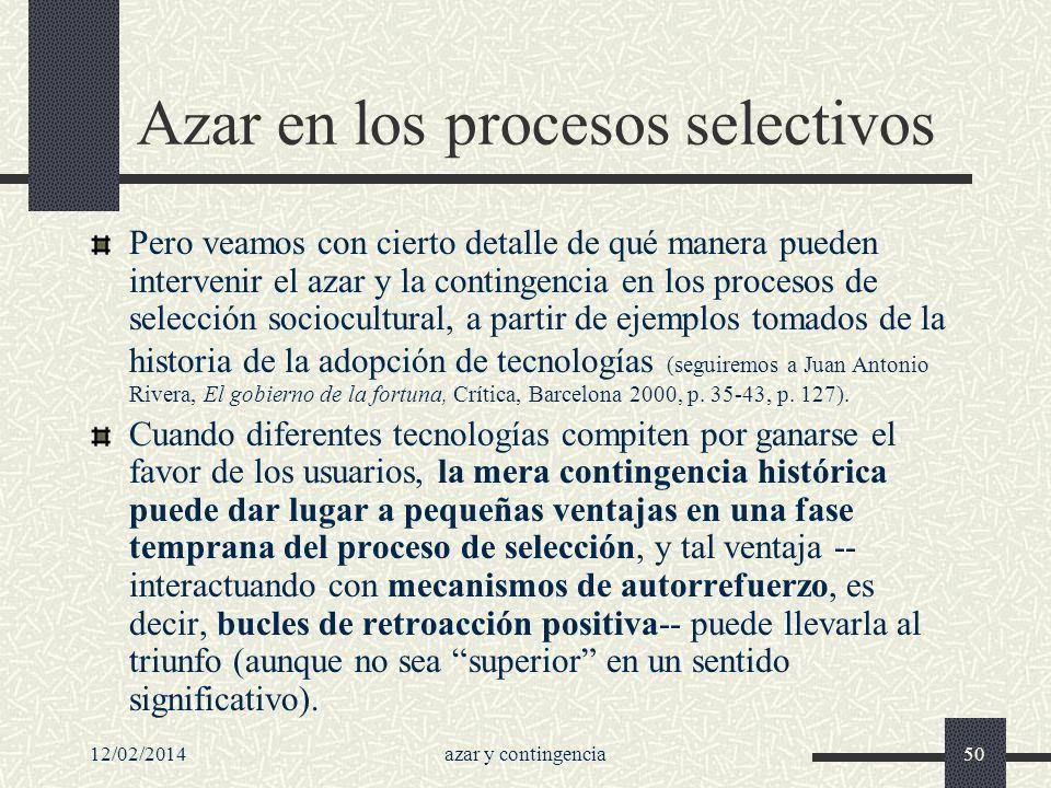 Azar en los procesos selectivos