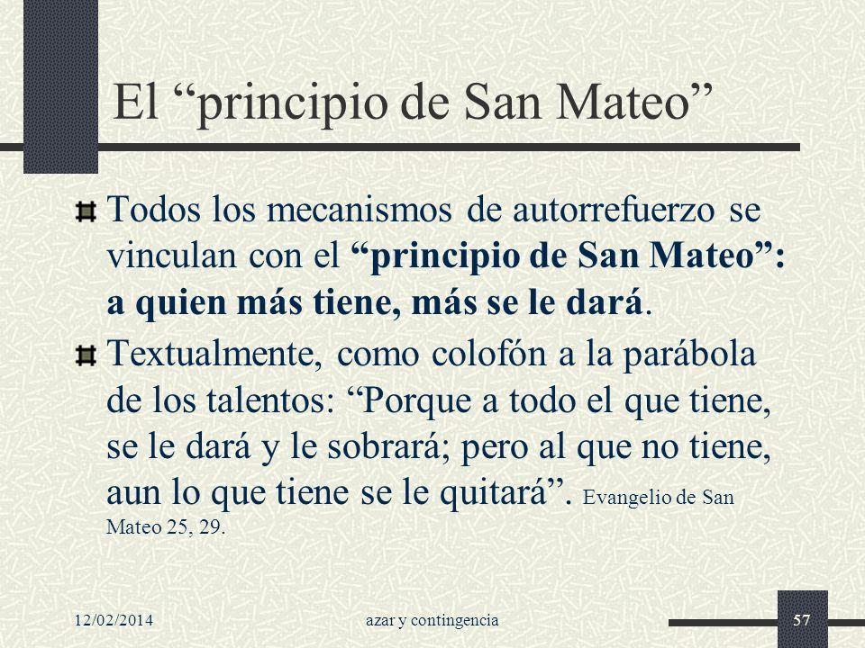El principio de San Mateo