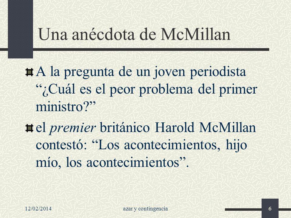 Una anécdota de McMillan