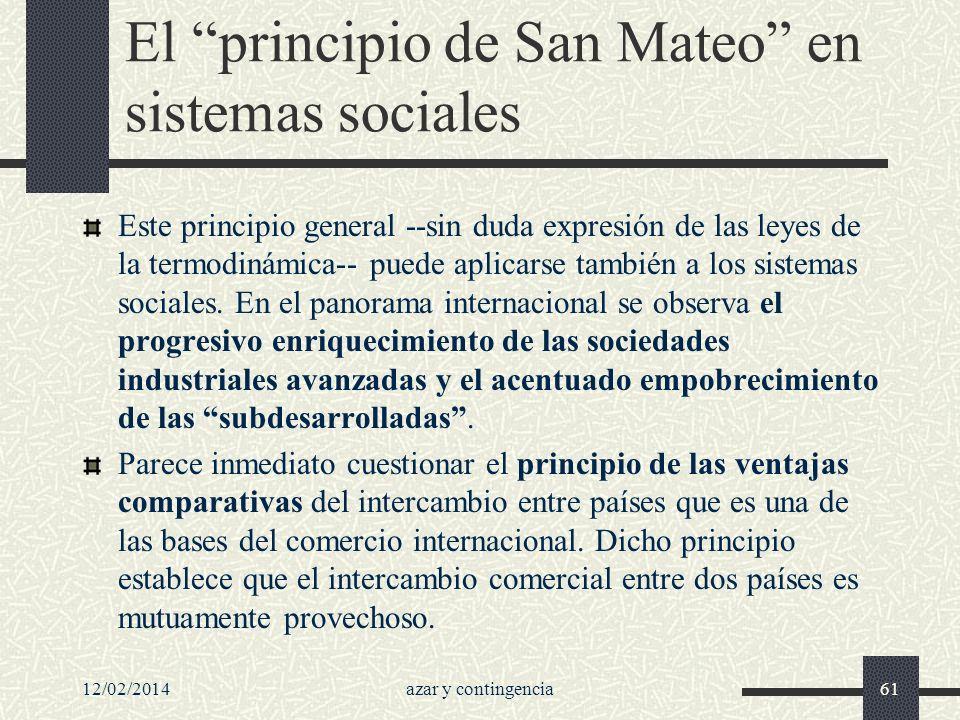 El principio de San Mateo en sistemas sociales