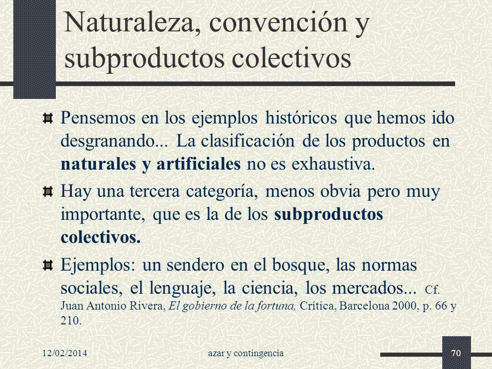 Naturaleza, convención y subproductos colectivos
