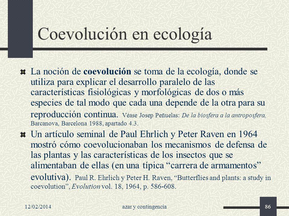 Coevolución en ecología