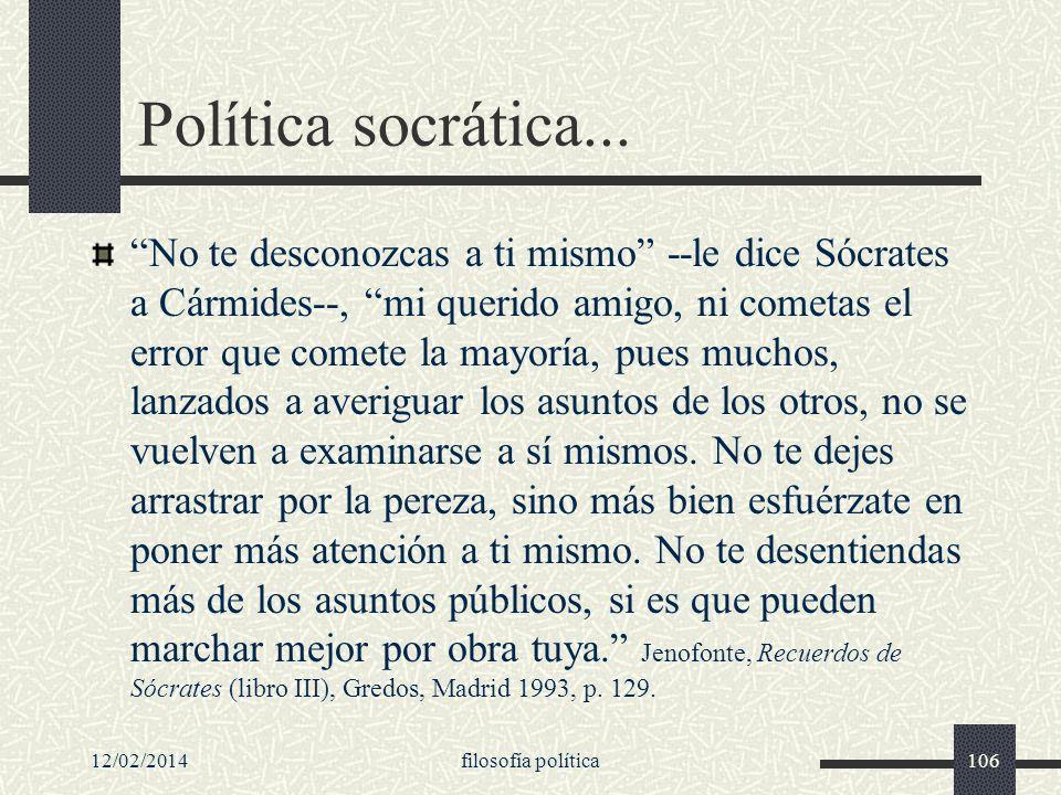 Política socrática...