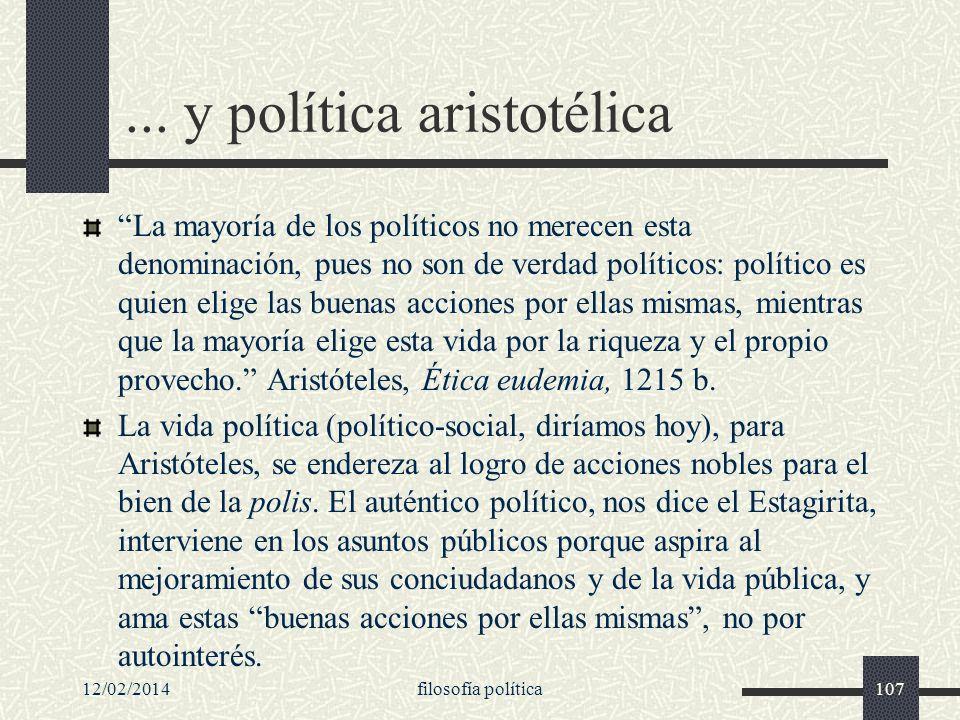 ... y política aristotélica