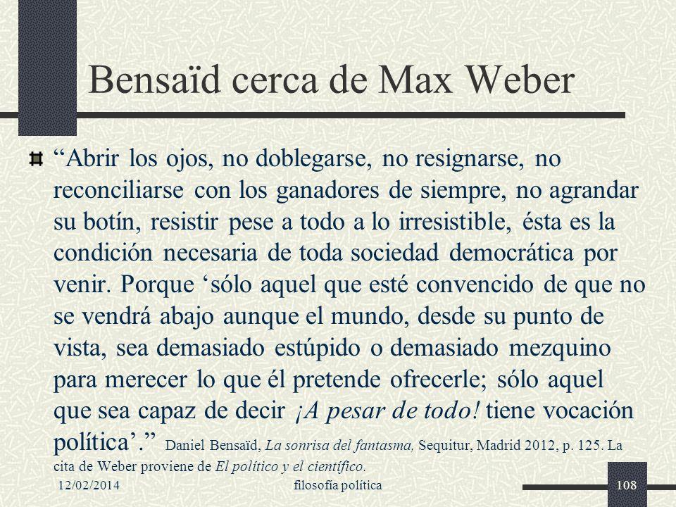 Bensaïd cerca de Max Weber