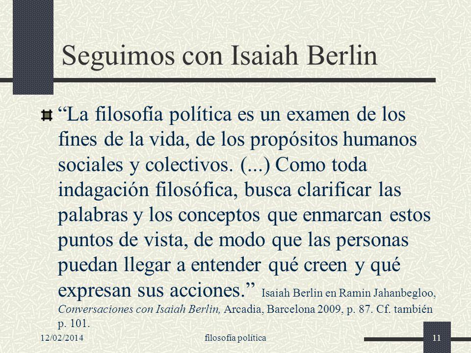 Seguimos con Isaiah Berlin