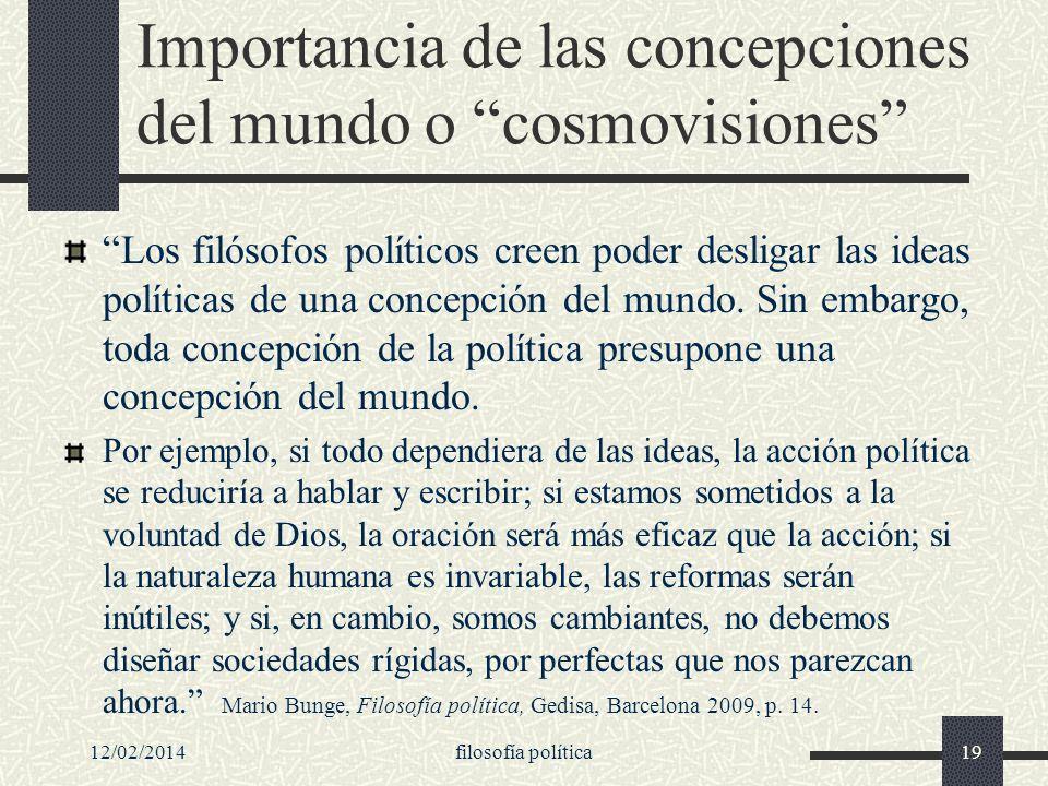 Importancia de las concepciones del mundo o cosmovisiones