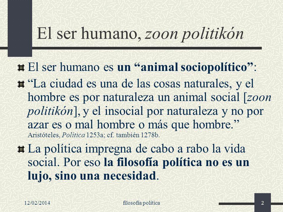 El ser humano, zoon politikón