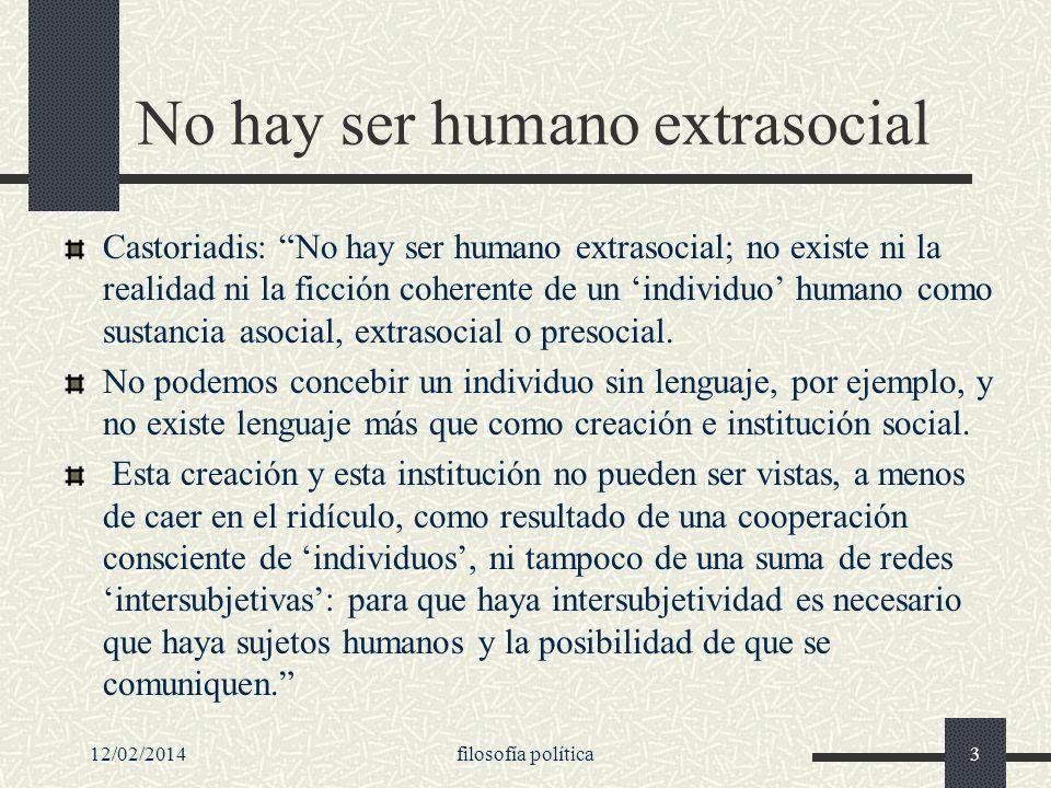 No hay ser humano extrasocial
